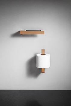 Reframe Collection by Unidrain - Our toilet paper holder and our reserve toilet paper holder. In the colour cobber. Scandinavian Bathroom Accessories, Scandinavian Design, Toilet Paper, Wall Lights, Luxury, By, Colour, Collection, Home Decor