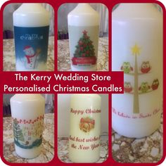 f1658f550297c Personalised Christmas Candles. Michael Mccarthy · Personalised Candles by  The Kerry Wedding Store