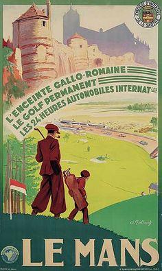FRANCE - Le Mans Département de la Sarthe Pays de la Loire #Golf #Vintage #Travel