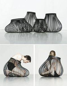Patricia Urquiola, Chair Design, Furniture Design, Coloured Girls, Art Portfolio, Transformation Body, Installation Art, Geometric Shapes, Wearable Art