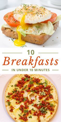 Low Carb Recipes To The Prism Weight Reduction Program Got time for breakfast? Of course you do, especially when the recipe ideas are as simple as these 10 breakfasts in under 10 minutes. Add at least one of these to your clean eating menu plan this week. Quick And Easy Breakfast, Healthy Breakfast Recipes, Healthy Eating, Healthy Recipes, Light Breakfast Ideas, Fast Breakfast Ideas, Vegetarian Breakfast, Vegan Vegetarian, Clean Eating Menu
