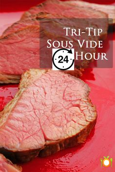 Tri-tip roast or steaks are a top pick in Californians and for good reason.  It has a ton of flavor. It has more flavor than most cuts of beef.  The tri-tip comes from the bottom sirloin portion of the steer/cow  The technique of sous vide cooking is a French technique used by many fine-dining restaurants. Very simple indeed, you place your meat into a plastic bag, and seal, removing as much air as you can. #tritip #sousvide