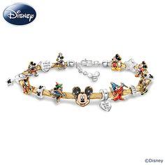 124191001 - Disney Mickey Mouse's Greatest Moments Charm Brac…