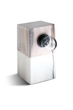 Modern+Lamp.+Driftwood+Table+Lamp.+Block+Lamp.+Modern+by+Railis,+$49.00