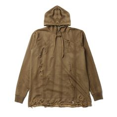 """@DOPE """"Destroyed Pullover"""" in Golden Brown 