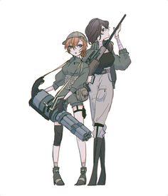 Soldier!Soukoku (female version)