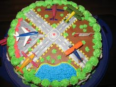 Airport Airplane Cake Prepare for Landing