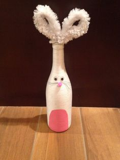 This would make such an adorable gift for Easter! Wrapped Wine Bottle, Bunny on Etsy, $35.00
