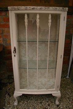 shabby chic display cabinet /bookcase | eBay