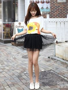 polka dots mini skirt $39 #asianicandy #spring #asianfashion #koreanfashion #japanese #kawaii