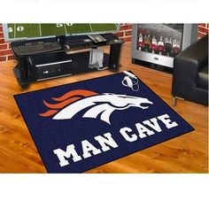 "Denver Broncos Man Cave Tailgater Area Rug Floor Mat 5' X 6' (60""' X 72"") should say Woman Cave !!!"