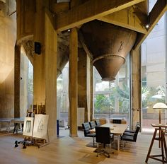 Ricardo Bofill's atelier and residence, the transformation of an old concrete plant
