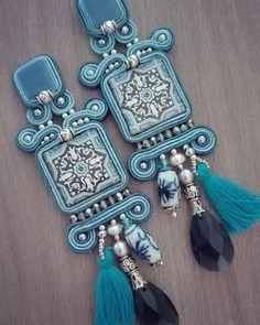 Adel's Laboratory: Santorini Statement Jewelry, Boho Jewelry, Beaded Jewelry, Jewelery, Jewelry Accessories, Handmade Jewelry, Jewelry Design, Diy Earrings, Diy Necklace