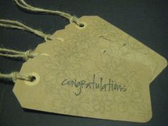 Set of 4 gift tags by TheCardHaven on Etsy, $2.00