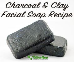 Charcoal and clay facial soap recipe from WellnessMama.com #soap #natural #wellness