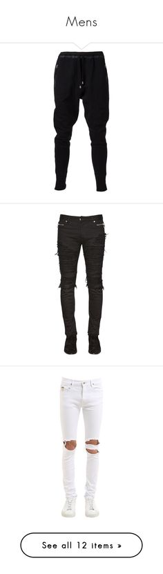 """""""Mens"""" by oarielo ❤ liked on Polyvore featuring men's fashion, men's clothing, men's activewear, men's activewear pants, pants, black, men's jeans, jeans, bottoms and men"""