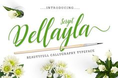 Dellayla Script by ximent studio on @creativemarket