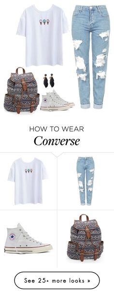 """PLEASE comment what I should wear on the first day of school"" by fashiongirlprox on Polyvore featuring Topshop, Converse and Aéropostale"