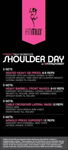 FitMiss Shoulder Day Workout