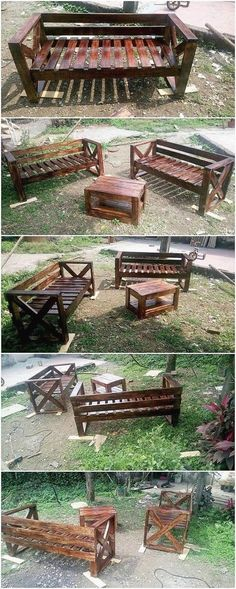 This is although quite an innovative and much a different creation of the wood pallet introduced into this image. What do you think, this creation is all about? Well, somehow this creation is showing out the service of outdoor garden furniture as being used enclosed with the benches plus the table and chair. What do you think? #OutdoorGardening