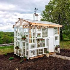 Things to Consider When Building an Aviary Diy Greenhouse Plans, Backyard Greenhouse, Old Window Greenhouse, Reclaimed Windows, Recycled Windows, Old Windows, Garden Structures, Garden Gates, Garden Sheds