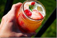 Shaken Nectarine Vodka Chillers