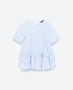 Image 6 of POPLIN BLOUSE WITH A FRILL from Zara