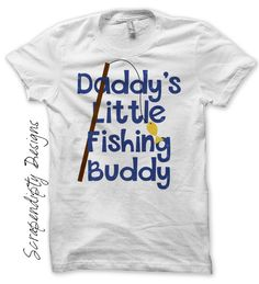 Camping Iron On Transfer Pattern – Daddy's Fishing Buddy Shirt / Boys Fishing Tshirt by Scrapendipity Designs