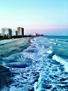 Myrtle beach.   Where we own our timeshare. Great Beach,  a lot to do.