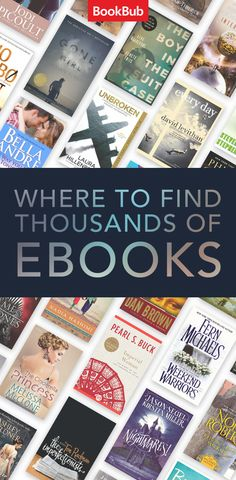 Find ebooks that'll make you fall in love with reading again: join the millions of readers using BookBub today!