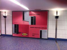 Warum man den Montageservice von IKEA braucht. Eindringlicher geht Außenwerbung wohl kaum! #genial