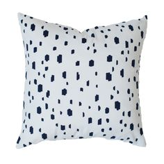 Navy Spotted Pillow | Caitlin Wilson Textiles