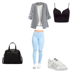"""""""look 18"""" by sisiassia on Polyvore featuring WithChic, Forever New, Furla and adidas"""
