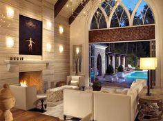 Jamie Beckwith Interiors - Poolhouse #designers #nashville