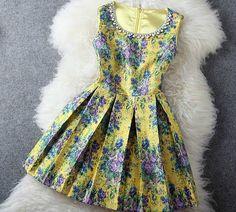 Printed beaded dress