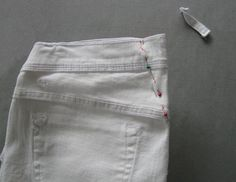 How to alter jeans waistband for better fit