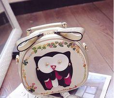 Mulheres verão estilo rebite bolsa de coruja bonito rodada de telefone saco do mensageiro cruz corpo bolsa carteira(China (Mainland))