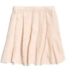 Madewell MADEWELL Something Else Laser Star Skirt ($176) ❤ liked on Polyvore
