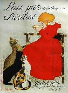 Theophile Steinlen, Milk Poster, France, 1894