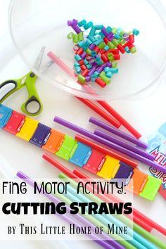 Fine Motor Activity: Cutting Straws