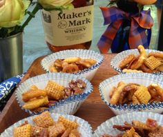 """Kentucky Bourbon, Bacon and Pecan Party Mix for our Kentucky """"Wildcard"""" theme when USC plays UK."""