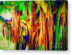 Abstract Canvas Print featuring the digital art Arising Colors by Caroline Gilmore