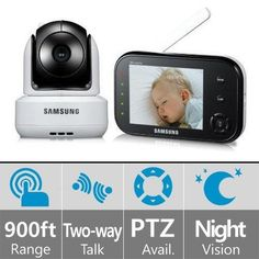 SEW-3037 - Samsung Video Baby Monitor, Black