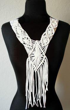 Trash To Couture: DIY macrame fringe collar