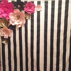 Kate Spade theme backdrop set by paperflowerfairy on Etsy. Used code Pinterest10 for a discount