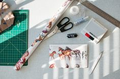just a reminder that you can make an envelope out of anything!  such as cute wrapping paper~