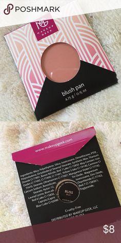 Make Up Geek Blush Never opened. In original packaging. Makeup Geek  Makeup Blush
