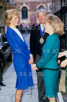 MARCH 24 1988: Princess Diana With Journalist And Television Presenter Esther Rantzen Visiting The Childline Office