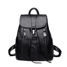 Leather Dachshund Paw Bone Bowknot Blue Backpack Daypack Elegant Ladies Travel Bag Women Men