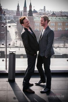 WICKED WEDNESDAY: Bad boys we love...In my mind Tom Hiddleston totally corrupts Chris Hemsworth